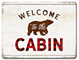 Highland Home Welcome To The Cabin Large Glass Cutting Board