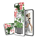 Slider 3-Layer TPU and PC Slim Bumper Wallet Case with Card Slot for iPhone 6s Plus / 6 Plus - Tropical