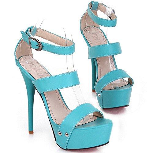 Sandali Piattaforma a Tacco Zanpa Blue Donna Tacco Spillo Mode w74qq0OYxA