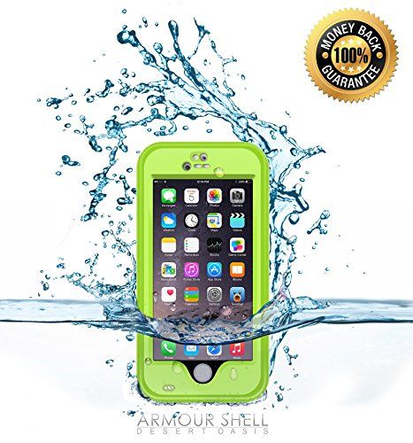 Waterproof iPhone 6 Case: Underwater Protective Phone Cover Premium Cases. Shockproof, Dustproof and Scratch Resistant Protection. Bonus Charging Cable Included, Protect and Defend With Armour Shell.