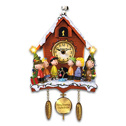 A Charlie Brown Christmas Sculptural Cuckoo Clock with Lights Music and Motion by The Bradford Exchange