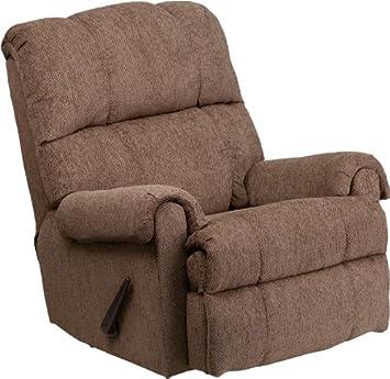 flash furniture tahoe bark chenille rocker recliner