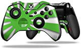 Rising Sun Japanese Flag Green - Decal Style Skin fits Microsoft XBOX One ELITE Wireless Controller (CONTROLLER NOT INCLUDED)