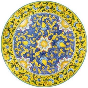 Dafnedesign - Mesa de jardín de piedra volcánica, diámetro 110 cm, peso 85 kg. - Decoración floral - Base de hierro gris 80 cm de diámetro - alta resistencia a los golpes.: Amazon.es: Hogar
