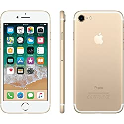 Apple GSM Unlocked iPhone 7, Gold, 128 GB (Certified Refurbished)
