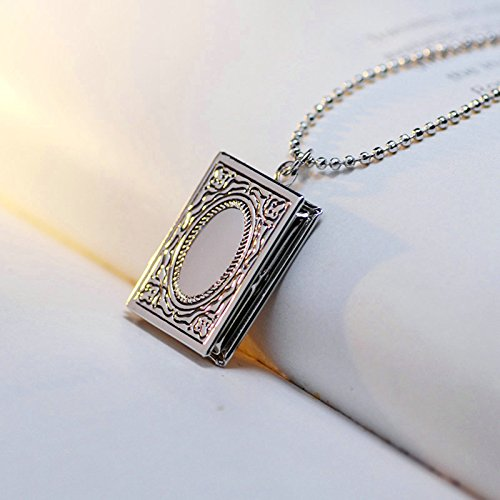 9dc8f597ad oro Rosa Reticolo Argento A Beydodo Portafoto Oro Collane Libro Foto  Dell'annata argento Ciondolo Collana IxqFAP