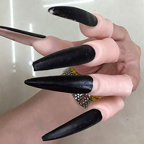 10PCS False Nail Fake Finger Cosplay Zombie Witch Gloves Claw For Costume Props