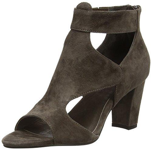 Sofie Schnoor Suede Sandal Damen Offene Sandalen mit Blockabsatz Grün (mud)