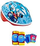 Disney Mickey Mouse Toddler Boys Skate / Bike Helmet Pads & Gloves - 7 Piece Set