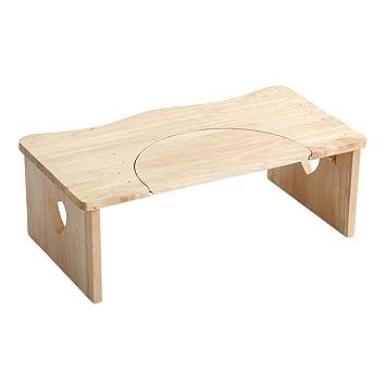 人気のトイレ子ども踏み台(36.5cm、木製)ハート柄で女の子に人気、折りたたみでコンパクトに|salita-サリタ- ナチュラル