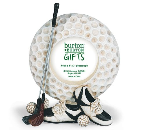 Hand Painted Golf Ball - Golf Ball Picture Photo Frame Great Golfing Gift
