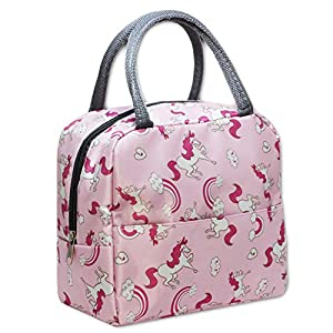 Pink Unicorn Kids Lunch Bag – Birthday Party Gift – Toddler and Little Kids Purse or Toy Tote Bag
