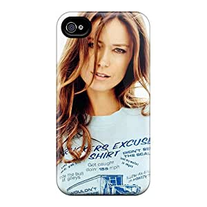 Tpu Case For Iphone 4/4s With Summer Glau White Background Brunettes Women