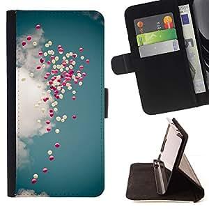 Momo Phone Case / Flip Funda de Cuero Case Cover - Purple Sky Dieu aime Jésus - Apple Iphone 6 PLUS 5.5