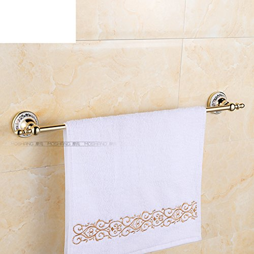 Golden Towel Bar/blue and white porcelain Towel Bar/Single towel bar/Copper and brass Towel Bar/European antique Towel Bar-B 30%OFF