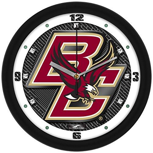 SunTime NCAA Boston College Eagles Textured Carbon Fiber Wall Clock