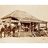Quality digital print of a vintage photograph - Court of Judge Roy Bean - Langtry, TX 1900. Sepia Tone 11x14 inches - Luster Finish