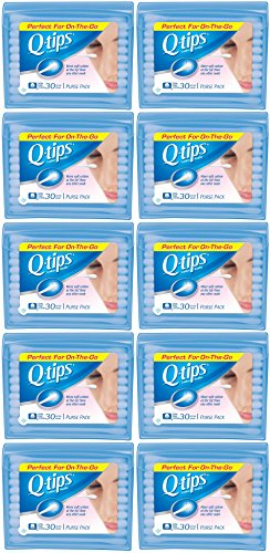Q-Tips Cotton Swabs Travel Size, 30 count (Pack of 10) by Q-Tips