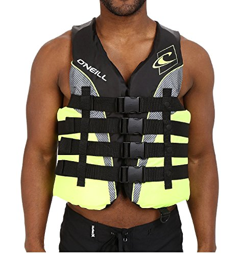 - O'Neill Men's Wake Waterski Superlite 2016 USCG Vest, XX-Large, Lime Charcoal