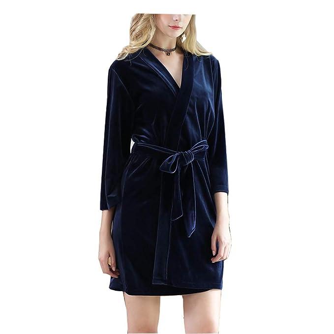 Morbuy Lencería Kimono Batas de casa con Escote de Poliéster Camisón Ropa de Dormir Cama Albornoz