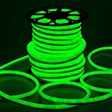 DELight 150 Ft 110V Green Flexible 3600 Bulbs LED Neon Rope Light Waterproof 50,000 Hours for Indoor Outdoor Holiday Valentines Party Decor Lighting