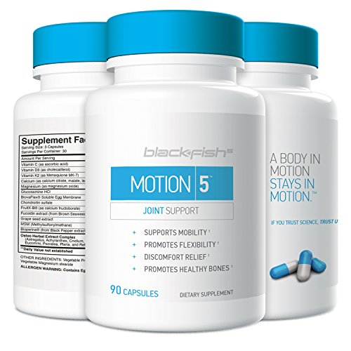 BlackFish5 Motion 5 Joint Support Supplement – Promotes Mobility and Healthy Bones, 90 Count Review