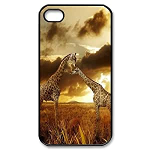 Yo-Lin case FXYL255287Giraffe and sunset protective case cover For Iphone 4 4S case cover