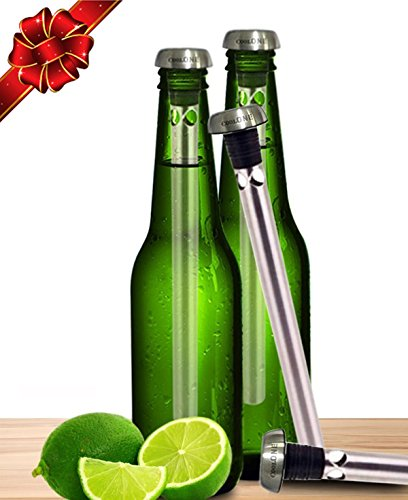 Cool One Single Beer Cooler - Put the Unique Chiller In Your Bottles and Drink Through Your Beverage Cold and Fresh