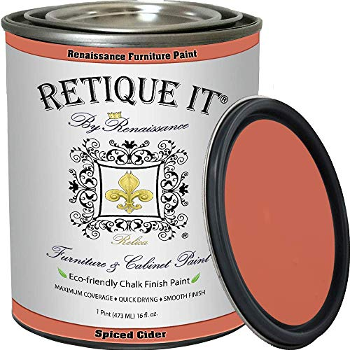 Retique It Chalk Furniture Paint by Renaissance DIY, 16 oz (Pint), 56 Spiced Cider