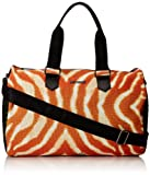 Just Cavalli Men's South Beach Printed Duffle Bag, Papaya Variant, One Size For Sale