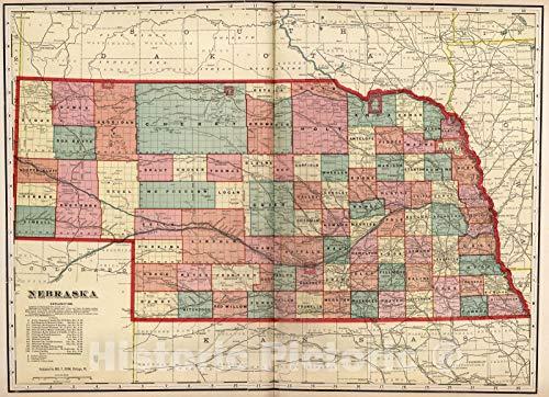 Historic Map   Dawson County Nebraska, County Atlas Map, Nebraska. 1904   Vintage Wall Art   44in x 32in