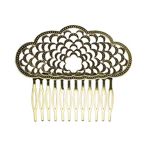 Comb Spanish - Ole Ole Flamenco Hair Side Comb Bulerias Old Gold Spanish Combs Peineta Flamenca Oro Viejo Dancer Ornamental Hair Pins Metal