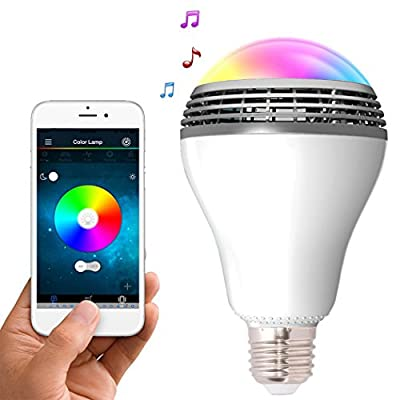 Hatori Smart RGB Color E27 LED Bulb Bluetooth Speaker Color Changing Lights By IOS and Android Phones for Bedroom Kitchen Indoor from HCT