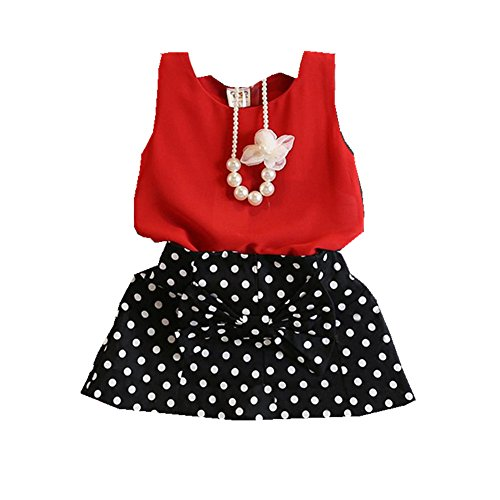 ftsucq-girls-necklace-shirt-top-with-polka-dot-skirttwo-pieces-sets100
