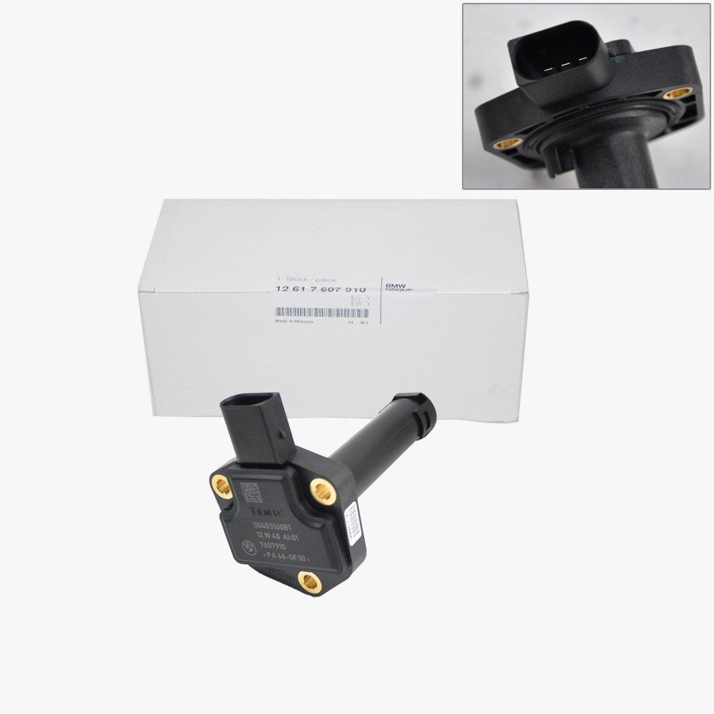 BMW Engine Oil Level Sensor Sender Unit + Seal Genuine Original 12617607910 by BMW