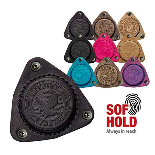 SofHold Black American Patriot Gun Magnet, Designed to Safely Hold A Full Size Fully Loaded Gun On The Roughest Roads in America! Made in The USA