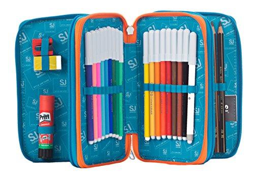 Amazon.com: School Pencil Case SEVEN - SJ BOY - 3 Zip ...