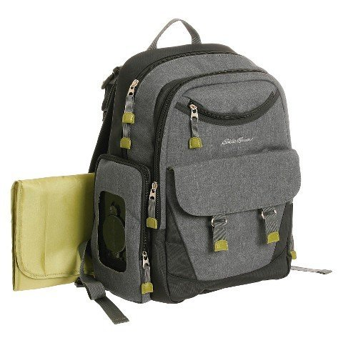Eddie Bauer Eddie Bauer Places & Spaces Dk Grey Heather Back Pack Diaper Bag, Grey Heather
