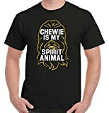Chewie Spirit Animal Funny Gift Cool Star Gym Wars Chewbacca T-Shirt Tee