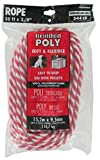 Lehigh Group RWSBP850W Polypropylene Solid Braid Derby Rope, 3/8'' x 50', Red/White