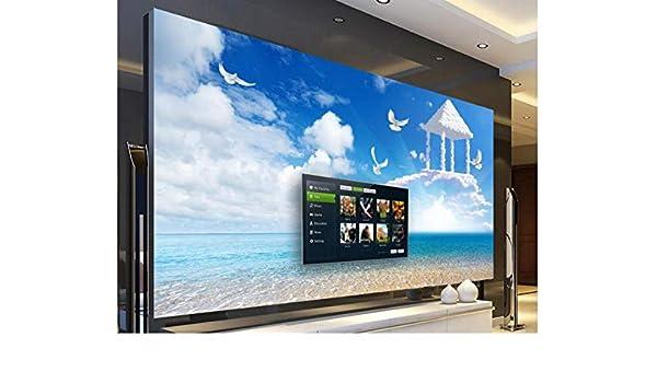 Yzybz Fondo De Pantalla Personalizado Vista Al Mar En 3D Escalera Celestial Murales De Sala De Estar Fondo De Tv Fondo De Pantalla En 3D -380 * 240cm: Amazon.es: Bricolaje y herramientas