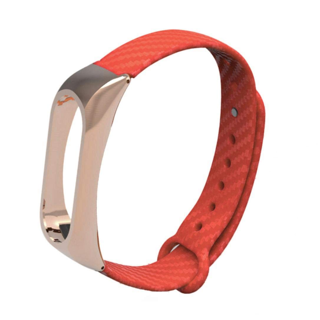 ☀️Modaworld Pulsera de reemplazo Pulsera de Correa de Pulseras TPE de Moda para Xiaomi Mi Band 2 Brazalete