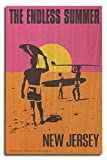 New Jersey - The Endless Summer - Original Movie Poster (10x15 Wood Wall Sign, Wall Decor Ready to Hang)