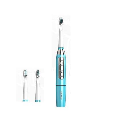 Seago Cepillos de dientes eléctrico con 2 cabezales de recambio, inteligente frecuencia sonic cepillo de