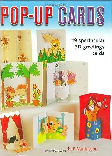 Pop Up Cards 19 Spectacular 3D Greeting Amazonde Jo Mathieson Fremdsprachige Bucher