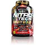 MuscleTech NitroTech Whey Gold, 100% Whey Protein Powder, Whey Isolate and Whey Peptides, Strawberry, 5.5 Pound Review