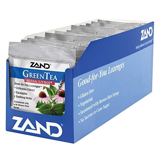 Zand HerbaLozenge Green Tea Echinacea, 15 Count (Pack of 12)