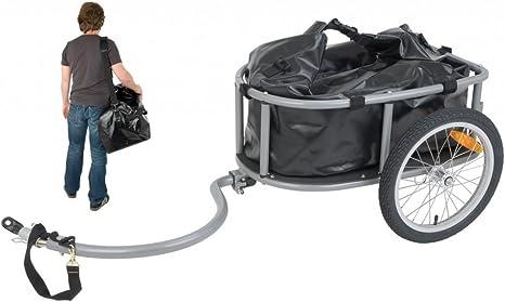 Remolque de bicicleta para transporte de viaje con cofre + ...