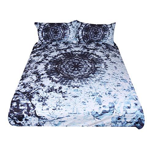 - Sleepwish Indigo Blue Tie Dye Ink Bedding Watercolor Mandala Boho Gypsy Bedding Duvet Cover Retro Bed Set (Queen)