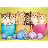 Buffalo Games Adorable Animals: Kittens in A Cup Jigsaw Puzzle (300 Large Piece)